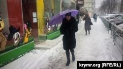 Снегопад в Симферополе. 1 марта 2018 года