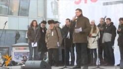 Митинг на Новом Арбате: Яскаускас и Мотин