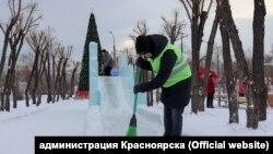 Ледовый городок в Красноярске