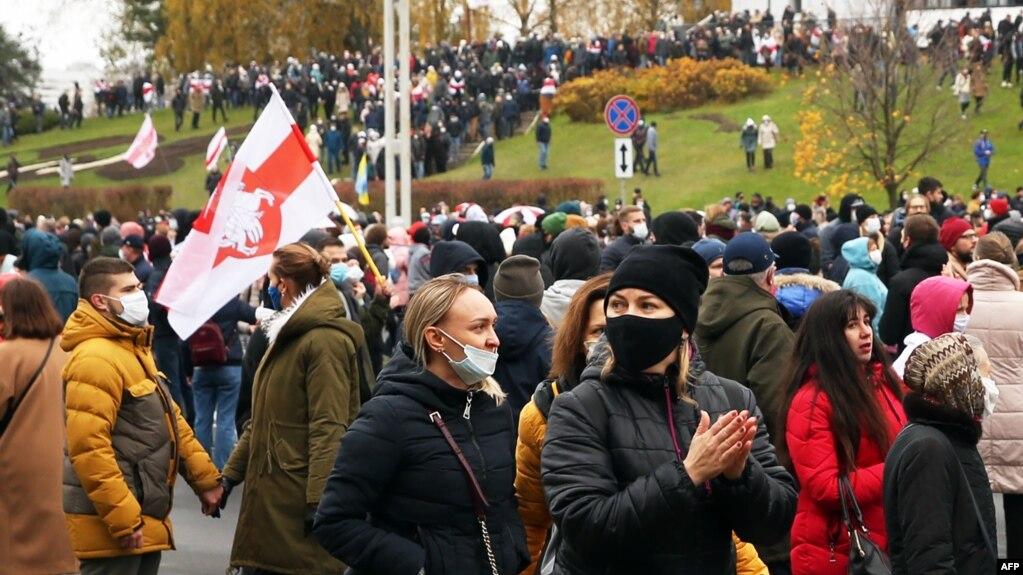 Падчас нядзельнага марша ў Менску