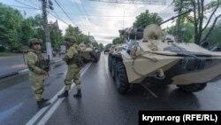 Репетиція параду перемоги в Сімферополі, 16 червня 2020 року