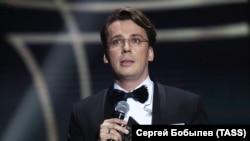 Юморист Максим Галкин на концерте «Подарок для Аллы» в концертном зале «Крокус Сити Холл»