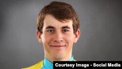 Велогонщик команды Astana Continental Team Артур Федосеев.
