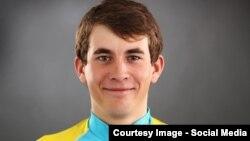 Astana Continental Team кәсіби велоспорт командасының мүшесі, допинг дауына ұрынған Артур Федосеев. Сурет команданың ресми сайтынан алынды.
