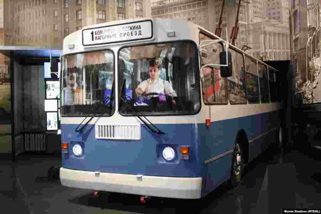 Московський тролейбус, зразок моделі, на якому здійснював свої поїздки Єльцин під час перебування першим секретарем московського міськкому КПРС