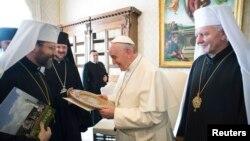 Папа Франциск зустрічається з українськими єпископами 20 лютого 2015 року