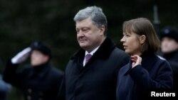 Президент України Петро Порошенко і президент Естонії Керсті Кальюлайд, Таллінн, 23 січня 2017 року