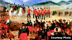 """Картина Иштвана Кищака-Клиновского """"Капитуляция венгерской армии под Виллагошем"""""""