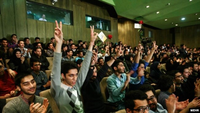 Student Day gathering in Tehran University, 2014.