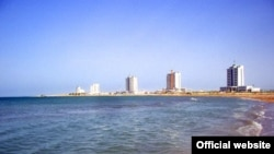 Turkmenbashi city, on Turkmenistan's Caspian coast