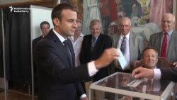 Macron Votes In French Parliamentary Elections