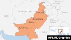 Провінція Белуджистан на мапі Пакистану