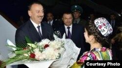 İlham Əliyev rəsmi səfərdə,Tacikistan
