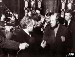 Александр Солженицын в Осло, 26 февраля 1974 года