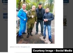 Спартак Типанов, сослуживец Доржи Батомункуева, в донецком госпитале (крайний слева)