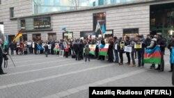 Avropadakı azərbaycanlılar siyasi məhbuslara dəstək aksiyası keçirir, 17 dekabr 2016