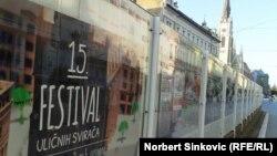Najavni plakat 15. festivala uličnih svirača