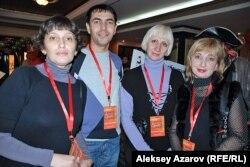 Участники фестиваля «Ортеке» из Татарстана. Алматы, 25 октября 2011 года.