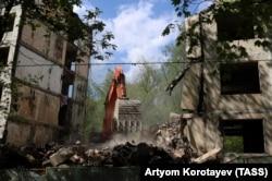 Снос домов в рамках проекта по реновации в Москве, 2017 год