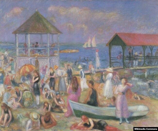 Уильям Джеймс Глакенс. На пляже, Нью-Лондон. 1918