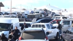 Highway Blockade Cuts Short Pashinian Visit To Armenian Border Region