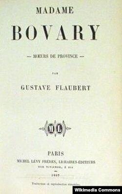 """""""Madam Bovari"""" kitabının 1857-ci ildə çıxmış ilk nüsxəsinin üz qabığı."""