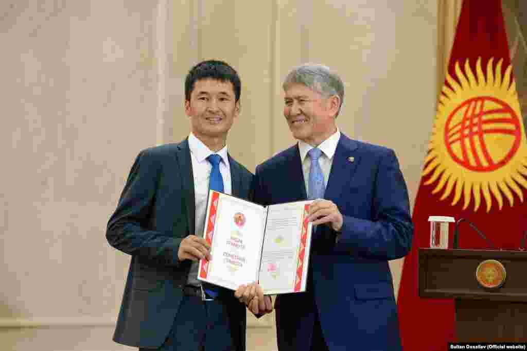 """Ulanbek was awarded Kyrgyzstan's Certificate of Honor by President Almazbek Atambaev in 2016. In addition, in 2017 he received an award """"For merit in the development of the press and information"""" from the CIS Interparliamentary Assembly."""