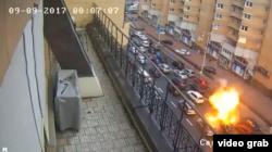 Вибух автомобіля Тімура Махаурі в центрі Києва
