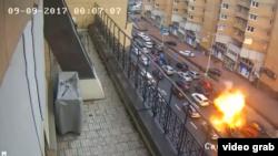 Взрыв автомобиля Тимура Махаури в центре Киева