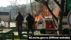 Пожар в Ялте, 26 января 2018 год