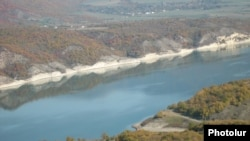 Nagorno-Karabakh -- The Sarsang reservoir that feeds the territory's largest hydro-electric station.