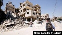 Разрушенные улицы в Восточной Гуте, Сирия. 5 сентября 2018 год