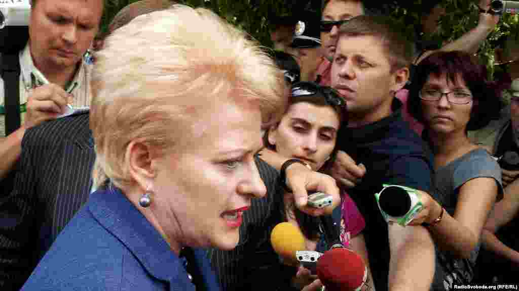 Президент Литовської республіки каже, що розмовляла з Тимошенко про особисте та майбутнє країни