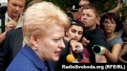 Действующий президент Литвы Даля Грибаускайте
