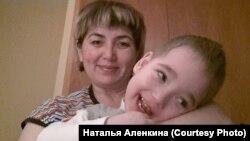 Наталья Алёнкина с сыном