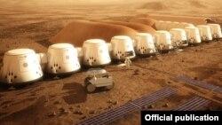 Ілюстративне фото: модель космічної станції для освоєння Марса за проектом Mars One