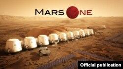 Мадэль касьмічнай станцыі для асваеньня Марса паводле праекту Mars One