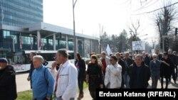"Protest radnika ""Kosmosa"", Banjaluka 20. mart 2015."