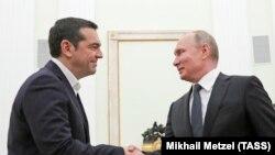Alexis Tsipras și Vladimir Putin, Moscova, 7 decembrie 2018