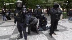 Во Прага судири на протестот против ковид мерките