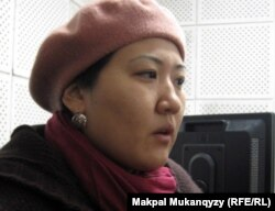 Айгүл Ербөлекова, Шалқар Оразалиннің адвокаты. Алматы, 28 қазан 2011 жыл.