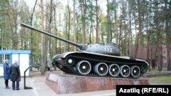 Памятник танку Т-55 в Уфе