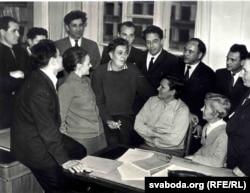Уладзімер Караткевіч на сустрэчы з чытачамі ў Акадэміі навук. 1969 г.