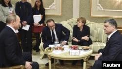 Minsk görüşündən foto
