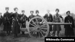Cossack Artillery From The Caucuses (1914)