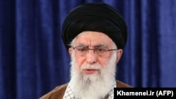 Iranian Supreme Leader Ayatollah Ali Khamenei delivers a speech in the capital Tehran, April, 9 2020