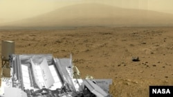 Фотография поверхности Марса, сделанная марсоходом Curiosity. Иллюстративное фото.