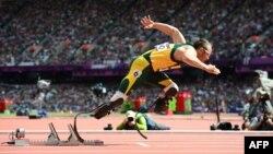 Оскар Писториус на лондонской Паралимпиаде 2012 года