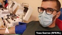 Тома Баятев, доброволец кръводарител