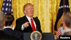 Прес конференција на претседателот на САД Доналд Трамп